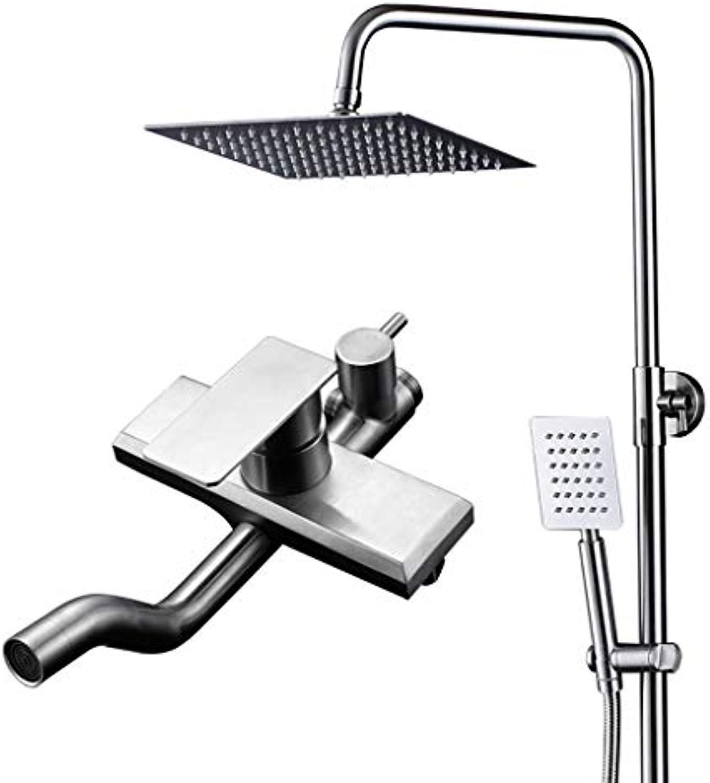 WXL Edelstahl Dusche Set heier und kalter Wasserhahn Dusche Badezimmer Duschkopf V