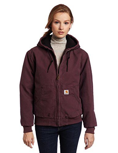 Carhartt Women's Quilted Flannel Lined Sandstone Active Jacket WJ130,Dusty Plum,Large