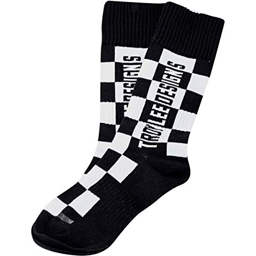 Troy Lee Designs GP MX Thick Youth Off-Road Motorcycle Socks - Checkers Black/Medium/Large 4-6