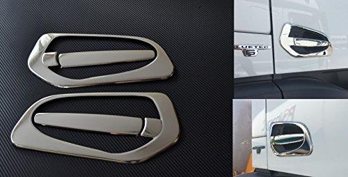 gauche et à droite Miroir en acier inoxydable Poignée de porte couvertures Chrome