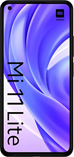 "Xiaomi Mi 11 Lite (Pantalla 6.55"" AMOLED DotDisplay FHD+ , 6GB+64GB, Triple Cámara 64MP, Snapdragon 732G, 4250mah con carga 33W) Negro [Versión Española]"
