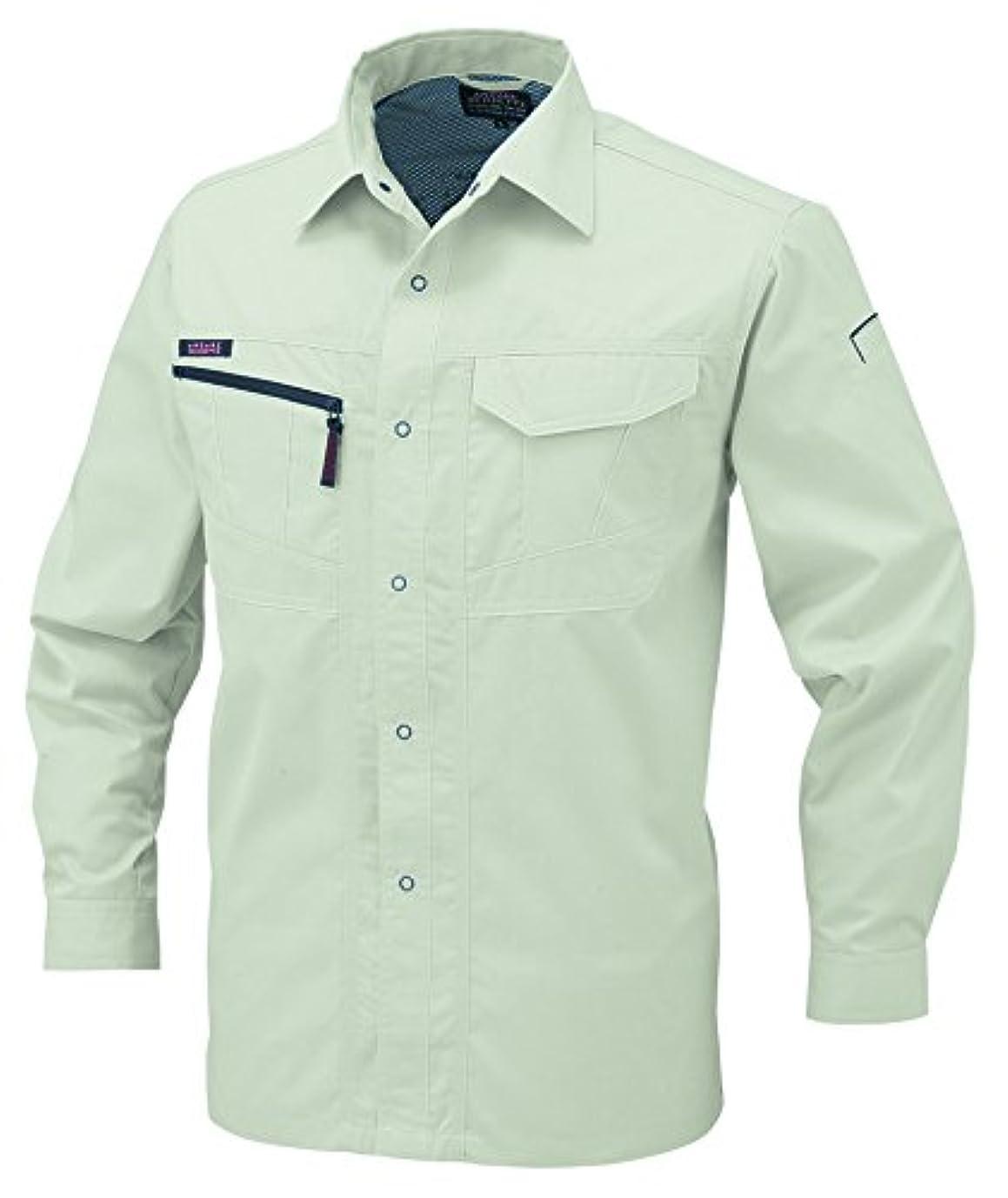 ブーム矩形クレタCO-COS コーコス 長袖シャツ A-768 プラチナシルバー EL