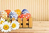 Dulce Primavera Pascua fotografía telón de Fondo Conejito Zanahorias Huevos de Pascua Cesta Flor bebé Pascua Fondo para Estudio fotográfico A13 2,7x1,8 m
