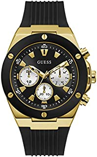 Guess Sport Watch for Men, Stainless Steel Case, Black Dial, Analog -GW0057G1