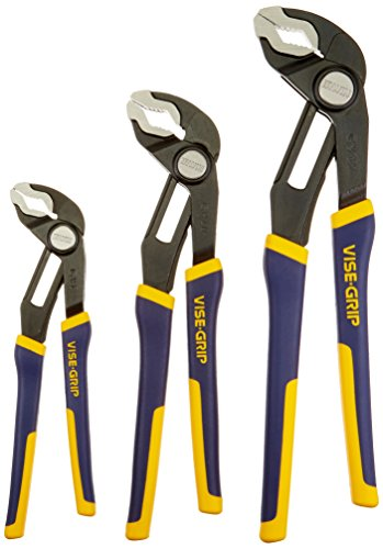 IRWIN VISE-GRIP GrooveLock Pliers Set, V-Jaw, 3-Piece (2078710)