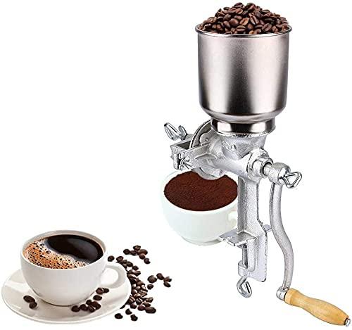 5L Macinacaffè manuale, Macina cereali con manovella, Macina a grano manuale per farina di mais di cereali, kit di attrezzi da cucina, montaggio su tavolo
