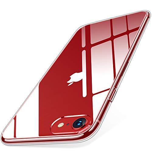 【Humixx】 20倍黄変防止 iPhone SE 用ケース 第2世代 iPhone8 ケース iPhone7ケース 2021年新型 薄型 高透明 耐衝撃 滑り止め 指紋防止 米軍MIL規格 レンズ保護 軽い クリア iphonese第2世代 ケース iphonese2 スマホケース
