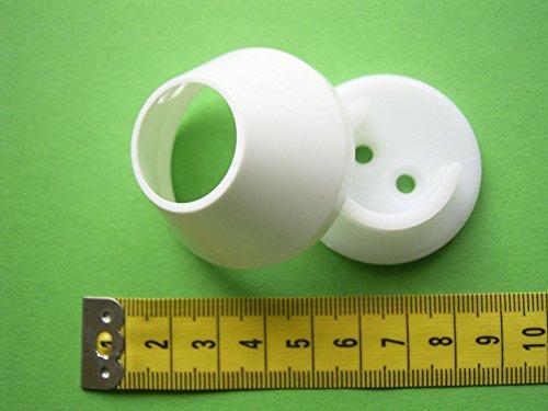 Wandlager weiß 20mm für Gardinenstangen