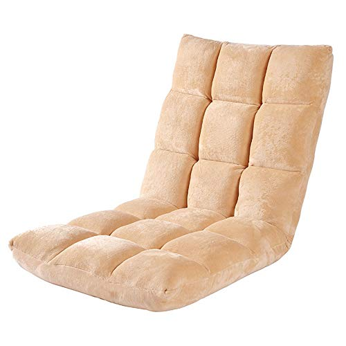 QinWenYan Floor Lounge Slaapbank, 6-positie, verstelbare klapstoel, voor thuiskantoor, 7 kleuren, woonkamer