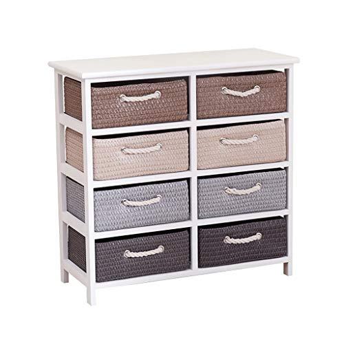 Préparation du meuble de rangement Armoire en bois massif Type de tiroir Multicouche Finition Armoire étroite Casier de chambre (Couleur : A)
