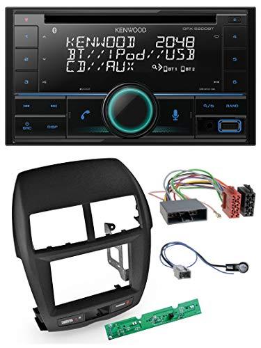caraudio24 Kenwood DPX-5200BT AUX MP3 CD Bluetooth USB 2DIN Autoradio für Mitsubishi ASX 2010-2014