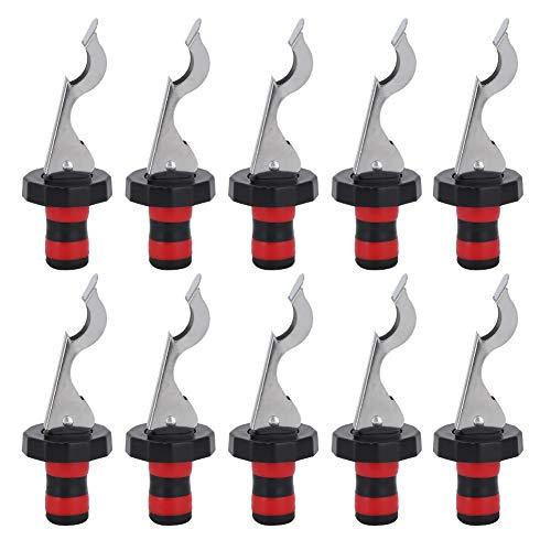 10PCS Portable Silicone Manual Press Corks Rotweinflaschenverschluss Vakuumstopfen Werkzeug Rot + Schwarz
