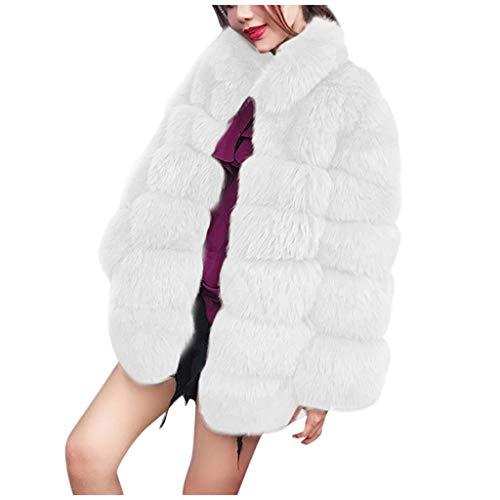 Chaquetas Mujer Invierno BBestseller Abrigo de Piel Bolsillo Manga Larga Pullover Cardigan...