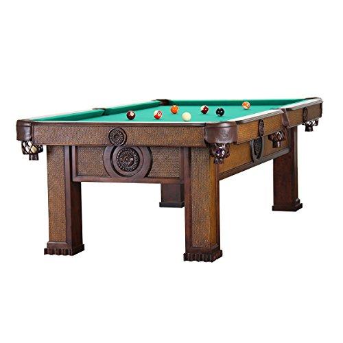 Mesa de billar modelo Orient 8 pies/30 mm de pizarra, unos 400 kg de madera maciza de haya/verde pañ