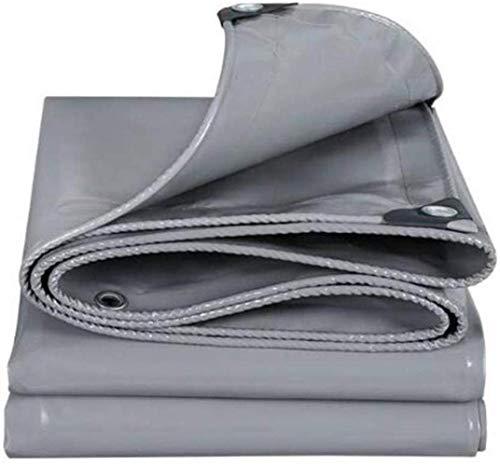 Schatten Persenning Grau Hitzebeständiges Wasserdicht Rugged Schwere Baumaschinen Tent Camping, Hängematte, Pool, Garten Ungiftig (Size : 4 x 4m)