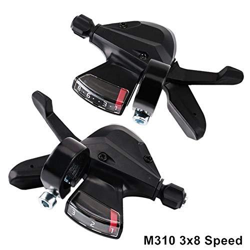 Adminitto88 Leva Cambio Freno Bici, Cambio Rapido SL-M310 3x8 velocità Accessori Mountain Bike 3 Marce Sinistra E 8 Marce Destra per Deragliatore MTB/Città/Trekking serviceable