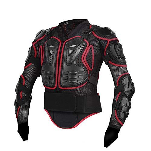 Kbsin212 Chaqueta de protección para motocicleta Pro Motocross ATV con protector de espalda, scooter, MTB Enduro, para hombre y mujer