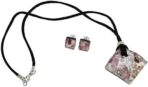 glassofvenice cristal de Murano veneciano reflejos joyería Set–Amatista