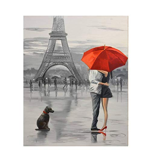 nach Nummer Leinwandbild, ohne Rahmen, Paris, digital