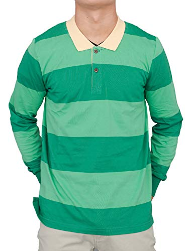 Adult Halloween Costume'Blue and Detective' Green Striped Shirt
