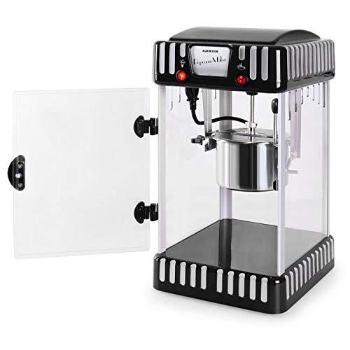 Klastein Vulcano - Macchina per popcorn, Design anni '50, 300 watt, Tempo di riscaldamento breve, POT in acciaio inossidabile, circa 60 l/h, porta magnetica, cucchiaio dosatore, rosso