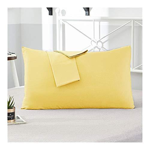 Lxxiulirzeu Mode 2 Stück Cotton Hotel Pillowcase 18 Solid Color Pillowcase...