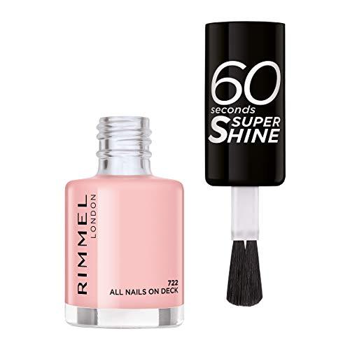 Rimmel - Vernis à Ongles 60 Seconds Super Shine Colour Block - Ultra Brillance et Longue Tenue - Séchage Rapide - 722 All Nails on deck - 8ml