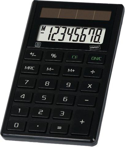 Taschenrechner ECO schwarz 8-stlg.