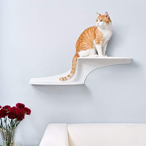 THE REFINED FELINE Clouds Cat Wall Shelves, Wall Mounted Cat Shelf with Two Perches for Cats