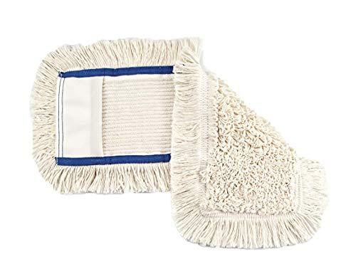 BELLANET Wischbezug Mopp aus Baumwolle, auch für empfindlichen Echtholz-Böden und Laminat, für alle gängigen Klapphalter 40 cm, Farbe Creme