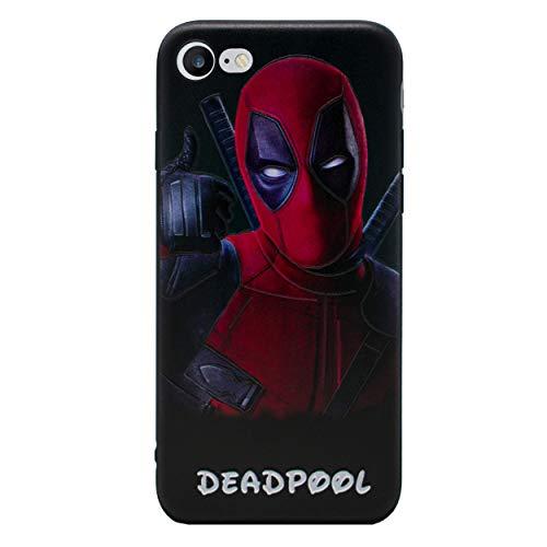 iPhone 5/5s 3D Marvel siliconen hoes/gel hoes voor Apple iPhone 5s 5 SE/scherm bescherming en doek/iCHOOSE/Deadpool