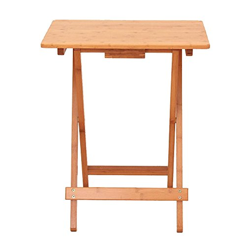 YNN Table Tables Pliantes Table carrée Table Basse Simple Table portative Bureau d'ordinateur Portable Table en Bois Plein d'extérieur (Taille optionnelle) (Taille : 50 * 36.5 * 68cm)