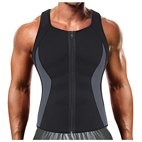 LuckyGirls Camiseta Interior sin Mangas para Hombre,Chaleco Adelgazante,elástico, compresión térmica, Capa Base Delgada, compresión muscula