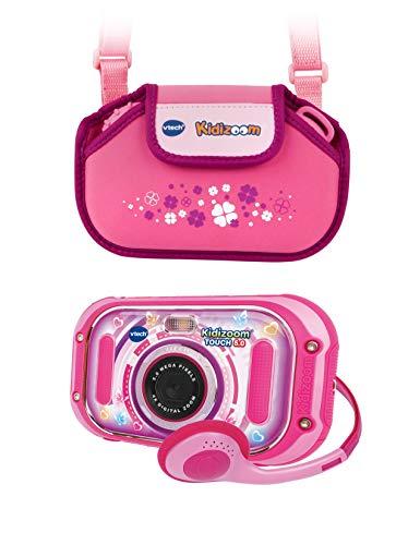 Vtech 80-163599 KidiZoom Touch 5.0 pink inkl. Tragetasche Kinderkamera