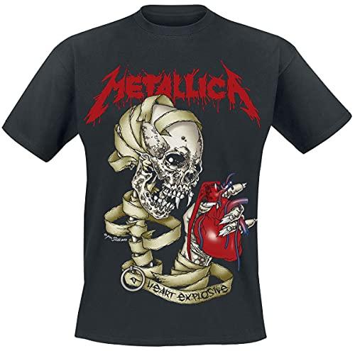 Metallica Men's Heart Explosive T-Shirt, Black, S to XXL