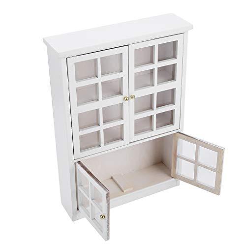 Miniatuur kabinet 1.12 poppenhuis boekenkast Houten Kast Furniture showcase decoratie dressoir