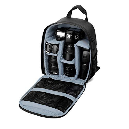 TOPTOO Zaino impermeabile DSLR per fotocamera digitale 13 x 10,4 x 4,9 pollici per fotocamere reflex digitali Fotocamere mirrorless Obiettivi Flash Treppiede Altri accessori Verde