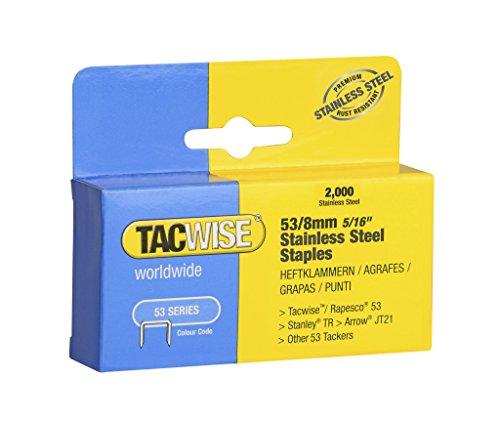 Tacwise 1269 53 x 8 mm-Heftklammern Edelstahl (2000)