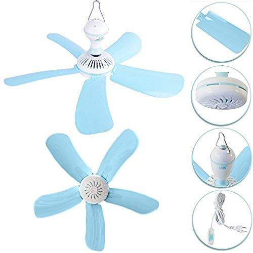Ventilatore A Soffitto 5 Pale Gancio Attacco Rapido 41 Cm Fun Tasto On Off Ventola Aria Vento