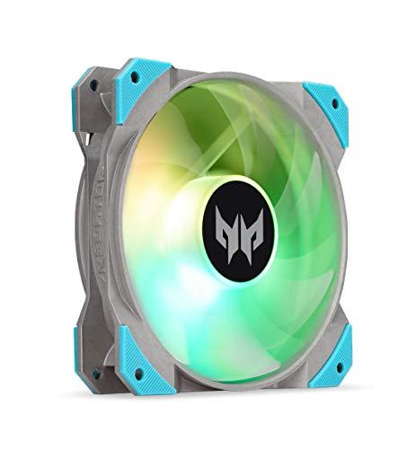 Acer Predator Frostblade ARGB Fan (Dreiteiliges Lüfterblattdesign, Optimierter Luftstrom und statischer Druck, schwingungsdämpfende Gummipuffer, 4Pin/3Pin Anschluss) schwarz
