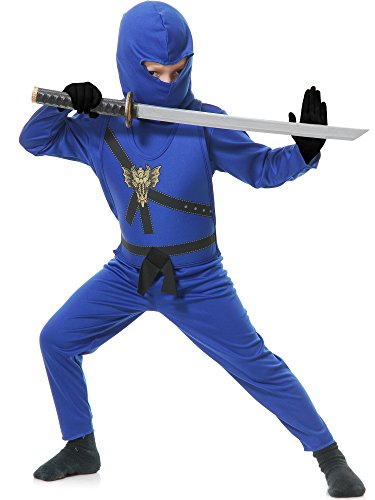 Charades Child's Ninja Avenger Costume, Blue, X-Small