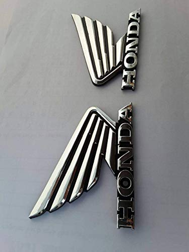 90x70mm Chrom Flügel Motorrad Abzeichen Emblem Motorrad Kraftstofftank Aufkleber