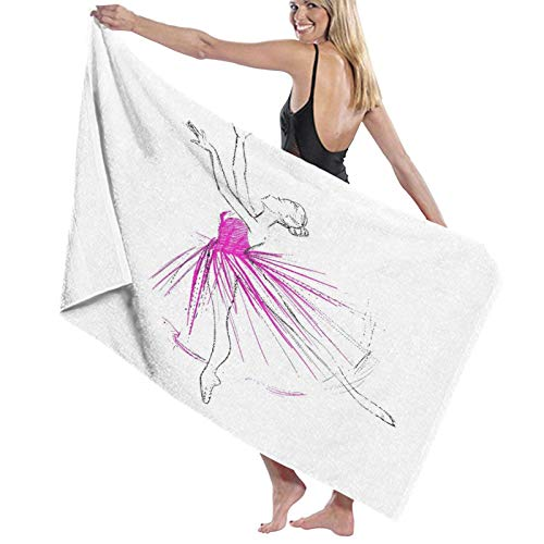 Grande Suave Ligero Microfibra Toalla de Baño Manta,Una Joven Bailarina,Hoja de Baño Toalla de Playa por la Familia Hotel Viaje Nadando Deportes Decoración del Hogar,52' x 32'