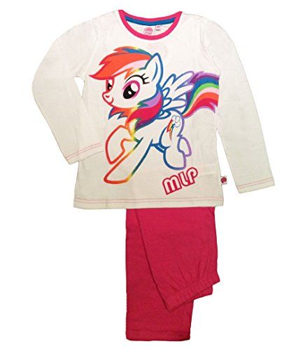 My Little Pony - Pijama - para niña Multicolor blanco/rosa