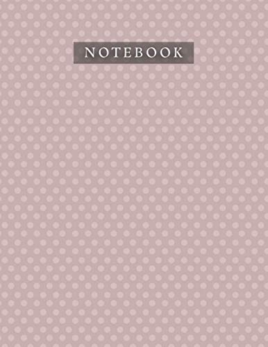 Notebook Rosy Brown Color Polka Dots Baby Elephant Pattern Background Cover: 21.59 x 27.94 cm, A4, Organizer, 8.5 x 11 inch, Lif