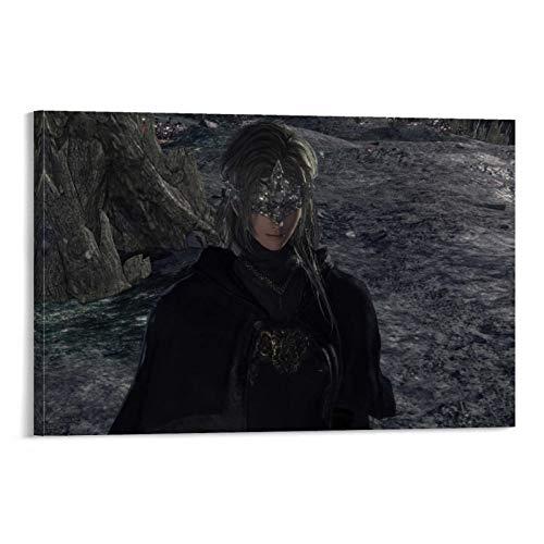 DRAGON VINES Dark Souls Sister Friede Lord of Cinder Ashen One Manta de lienzo para decoración de pared de 40 x 60 cm
