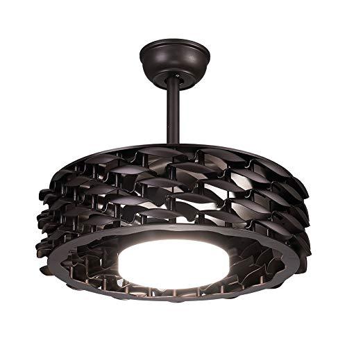 Ventilador de techo retráctil de 22 pulgadas LED sin hojas ventilador de techo ventilador araña ventilador ventilador ventilador ventilador de techo