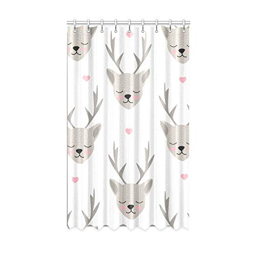 N\A Innenfenster Vorhang Runnig Deer Aktiv Brave Tür Verdunkelungsvorhang 50 X 84 Zoll Einteiler für Patio Glasschiebetür/Schlafzimmer