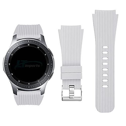 Pulseira Clássica 22mm compatível com Samsung Galaxy Watch 3 45mm - Galaxy Watch 46mm - Gear S3 Frontier - Amazfit GTR 47mm - Marca Ltimports (Branco)
