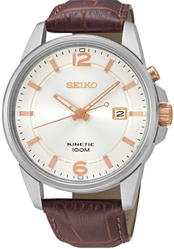 Seiko SKA669J1 Herenhorloge met leren armband